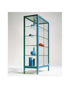 Aluvitrine Modell V15 mit 4 Glasböden