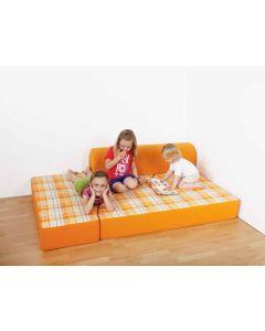 Bett-Sofa mit Rückenrolle, viele verschiedene Farben