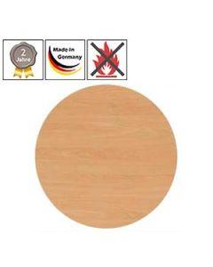 Tischplatten rund, schwer entflammbar (B1)