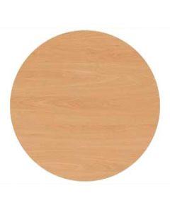 Tischplatte melaminharzbeschichtet, rund 138 cm, Plattenstärke: 25 mm, Dekor: Buche