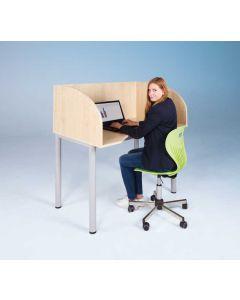 Computer-Arbeitstisch mit Sichtblende, Größe L 120 x 80 cm