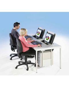 Computer-Zweiertisch, Breite: 200 cm, inkl. 2 x PC-Halterung