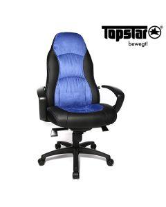 Drehstuhl Speed Chair von Topstar, Blau - Schwarz
