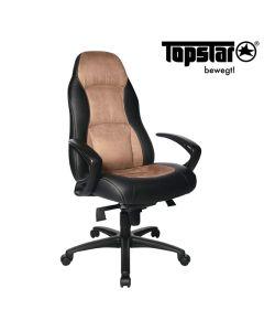 Drehstuhl Speed Chair von Topstar, Hellbraun - Schwarz