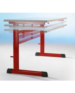 Einer-Schülertisch Modell TH, höhenverstellbar 59 - 76 cm, Größe: 70 x 55 cm