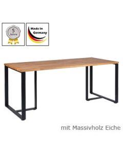 Esstisch Modell D mit Massivholzplatte Eichenholz