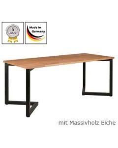 Esstisch Modell V mit Massivholzplatte Eichenholz