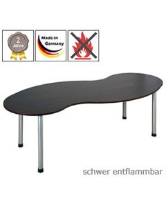 Freiformtisch mit Gestell Modell 5 und mit schwer entflammbarer Tischplatte (B1)