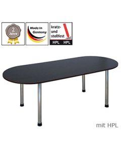 Freiformtisch mit Gestell Modell 5 und mit HPL-Beschichtung