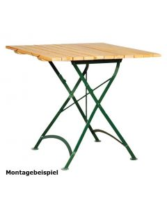 Gestell für Outdoortisch Nostalgie, klappbar, für Größe 120 x 80 cm oder 120 cm rund, Grün