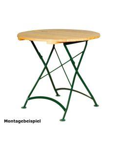 Gestell für Outdoortisch Nostalgie, klappbar, für Größe 80 x 80 cm oder 80 cm rund, Grün