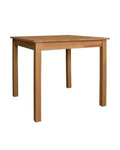 Holztisch Stephenville, 80 x 80 cm, Massivholz Eiche