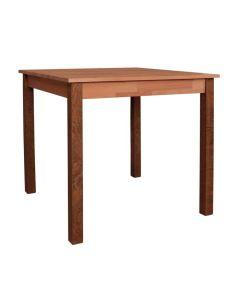 Holztisch Vernon, 80 x 80 cm, Massivholz Buche, Buche Walnuss