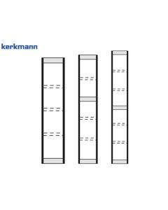 Kerkmann Endseite für Büroregal Progress 2000, Rahmenfarbe: Silber