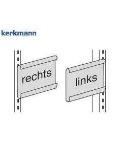 Kerkmann Gangschild für Freiarm-Regal Univers, Farbe: Lichtgrau