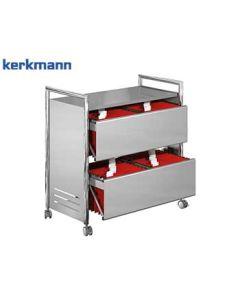 Kerkmann Mappenwagen Artline II, Farbe: Chrom/Alusilber