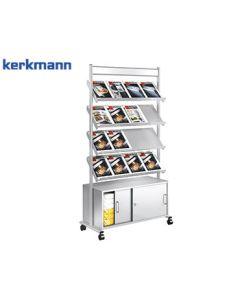 Kerkmann Prospektregal Artline 16 x DIN A4 mit Schrank
