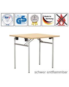 Klapptisch Quadro mit schwer entflammbarer Tischplatte (B1)
