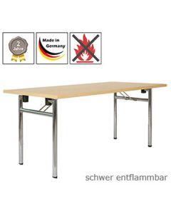 Klapptisch King Plus (rollbar) mit schwer entflammbarer Tischplatte (B1)