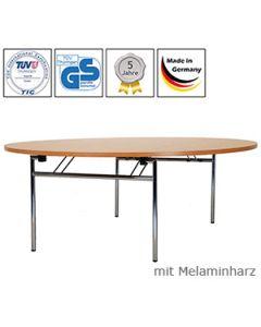 Klapptisch Premium, 120 x 60 cm, Tischplatte Weiß