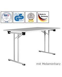 Klapptisch Premium, 150 x 50 cm, Lichtgrau - Aluminium