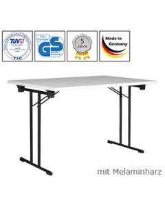 Klapptisch Standard, 120 x 60 cm, Tischplatte Schwarz