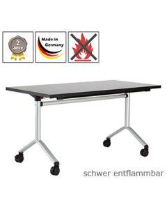 Klapptisch Luzern mit schwer entflammbarer Tischplatte (B1)