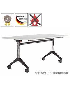 Klapptisch Basel mit schwer entflammbarer Tischplatte (B1)