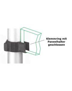 Klemmring für Ø 60 mm mit Paneelhalter geschlossen