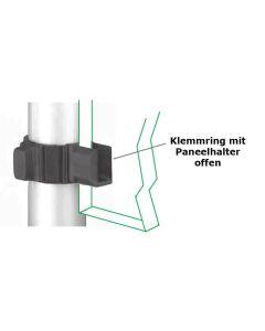 Klemmring für Ø 50 mm mit Paneelhalter offen, 2er-Set