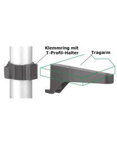Klemmring für Ø 50 mm mit Tragarm, 2er-Set