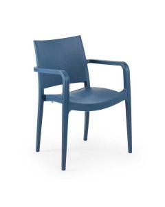 Kunststoffstuhl Xabia, Blau