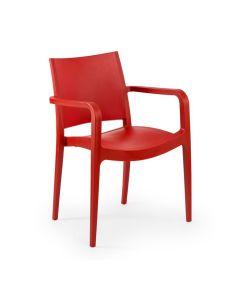 Kunststoffstuhl Xabia, Rot
