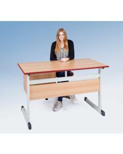 Lehrertisch Modell T mit Sichtblende