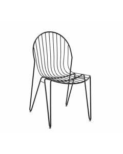 Metallstuhl Maluti, Gestell Schwarz oder Chrom