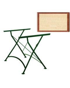 8 x Outdoortisch, Werzalit Tischplatte, 120 x 80 cm, Harmony, Nostalgiegestell grün, B-Ware mit kleinen Kratzern