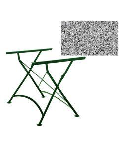 8 x Outdoortisch, Werzalit Tischplatte, 120 x 80 cm, Piazza, Nostalgiegestell grün