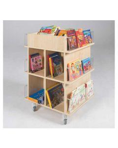 Präsentationswagen für Bücher