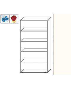 Basic Line - Regal, 180,5 x 100 x 42 cm (HxBxT), Dekor: Weiß