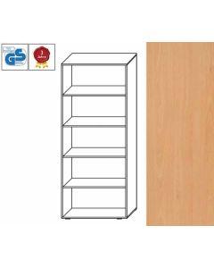 Basic Line - Regal, 180,5 x 80 x 42 cm (HxBxT), Dekor: Buche