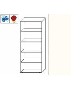 Basic Line - Regal, 180,5 x 80 x 42 cm (HxBxT), Dekor: Weiß