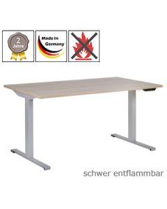 Schreibtisch 2Q5, elektrisch höhenverstellbar, mit schwer entflammbarer Tischplatte (B1)