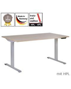 Schreibtisch 2Q5, elektrisch höhenverstellbar, mit HPL-Platte