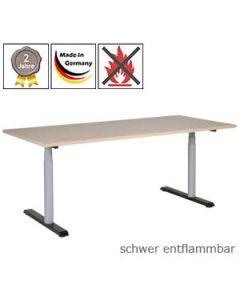 Schreibtisch 3R11, elektrisch höhenverstellbar, mit schwer entflammbarer Tischplatte (B1)
