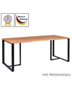 Schreibtisch Modell D mit Melaminharzplatte