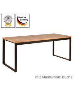 Schreibtisch Modell O mit Massivholzplatte Buchenholz