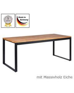 Schreibtisch Modell O mit Massivholzplatte Eichenholz