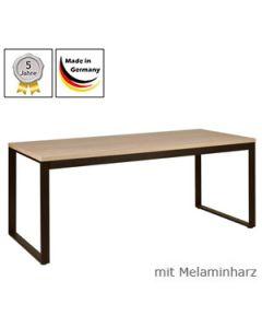 Schreibtisch Modell O mit Melaminharzplatte