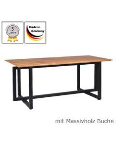 Schreibtisch Modell Q mit Massivholzplatte Buchenholz