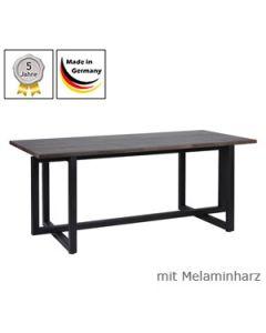 Schreibtisch Modell Q mit Melaminharzplatte